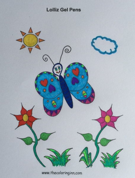 Test Picture Colored with Lolliz Gel Pens