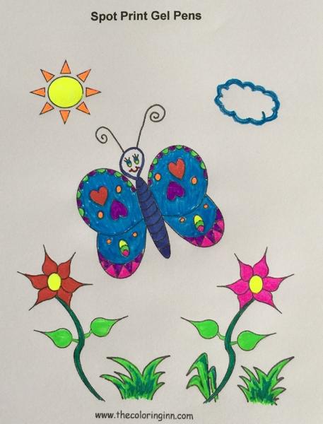 Spot Print Gel Pens - The Coloring Inn