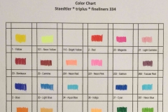 Staedtler triplus Fineliners 334 Color Chart