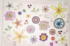 Pointilism-Flowers