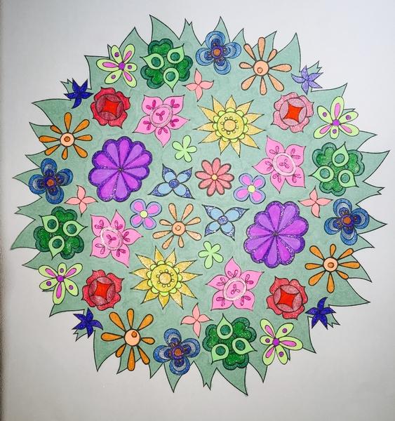 Media Bic Mark Its Officeworks Gel Pens KaiserColour Source Nature Mandalas Publisher Artist Thaneeya McArdle