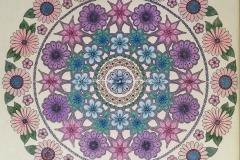 Flower Mandala Daisies and Starflowers