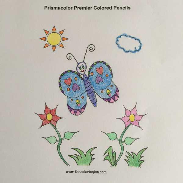 Test Picture Colored with Prismacolor ® Premier Colored Pencils