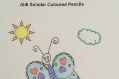 Test Picture Colored with Aldi Scholar ® Colored Pencils
