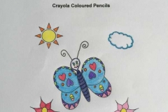 Test Picture Colored with Crayola Colored Pencils