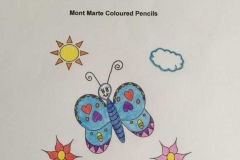 Test Picture Colored with Mont Marte Coloured Pencils