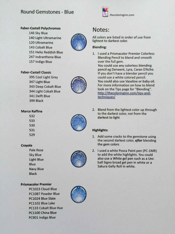 Round Gemstones Blue