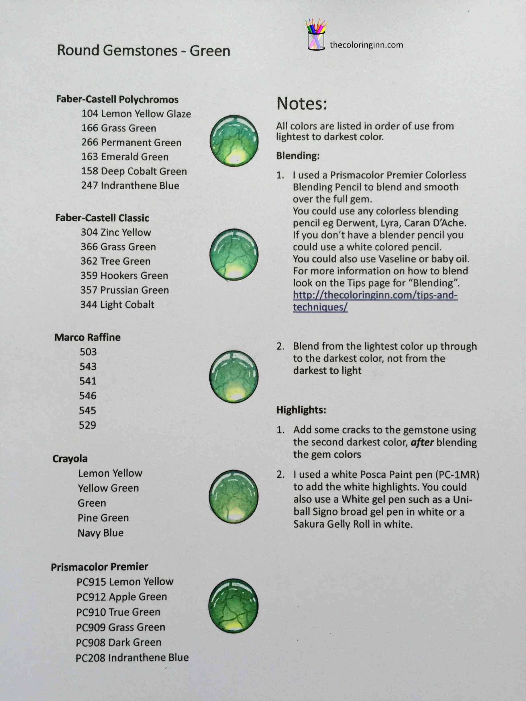 Round Gemstones Green