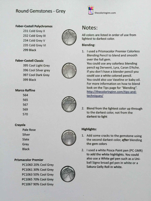 Round Gemstones Grey